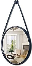 ZHENAO Round Hanging Mirrors for Wall Decor - with