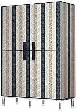 ZHENAO Single Wardrobe Canvas Wardrobes Portable