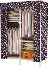 ZHENAO Single Wardrobe Folding Wardrobe Clothing