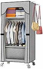 ZHENAO Single Wardrobe It Can Move Belt Pulley