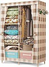 ZHENAO Single Wardrobe Two Lattice Wardrobe
