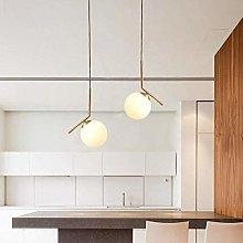 ZHENAO Small Single-Head Chandelier Nordic Glass
