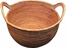 ZHENAO Strong Household Rattan Storage Hamper