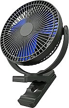 ZHENAO USB Mini Fan Clip, 10000Mah Rechargeable