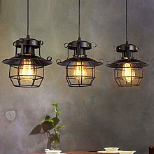 ZHENAO Vintage Pendant Light Loft Iron Hanging