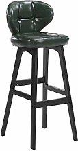 ZHENG Barstools Solid Wood High Stool Bar Chair
