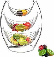 ZHENG Fruit Bowl Fruit Basket 3-Tier Hammock Fruit