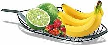 ZHENG Fruit Bowl Fruit Basket Countertop Metal