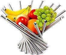 ZHENG Fruit Bowl Fruit Basket Creative Collapsible