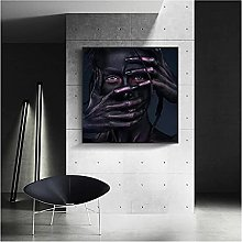 zhengchen Print on Canvas African Black Woman With