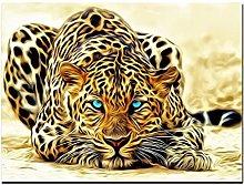 zhengchen Print on Canvas Leopard Watching for