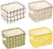 ZhengYue Storage Baskets Foldable Mini Square