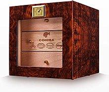 ZhenHe Cigar Box, Three-Layer Cedar Cigar Humidor,