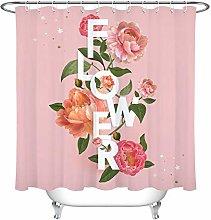 zhenshang Blooming flowers shower curtain bathroom
