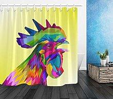 zhenshang Colored cock head shower curtain