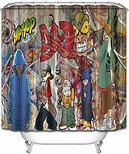 zhenshang Hip hop cool boy doodle bathroom shower