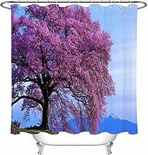 zhenshang Mountain top pink flower tree shower