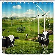 zhenshang Natural cow ranch shower curtain