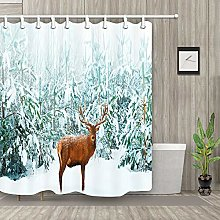 zhenshang Reindeer and white snow forest
