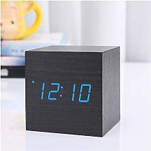 ZHENXIN Alarm clock 1Pcs Modern Wooden Wood Square