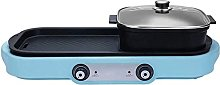ZHEYANG Electric Hot Pot Grill Indoor 1600W 2 in 1