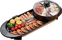 ZHEYANG Indoor Teppanyaki Grill Shabu Pot with