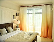 ZHFEL Blackout Curtain, Gradient Polyester Panels