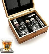 ZHGYD Whiskey Stones Gift Set - Whiskey Glass Set