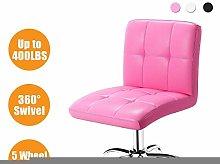 ZHHk 360° Office Desk Chair,PU Adjustable Rolling