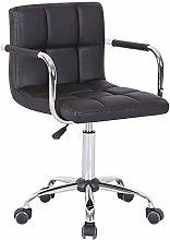 ZHHk Mid Back Leather Desk Chair, Computer Swivel