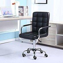 ZHHk Modern Black Mid Back Office Chair Computer