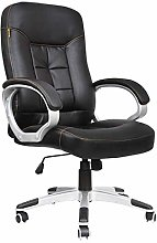 ZHHk Office Chair Desk Leather Gaming Chair, High