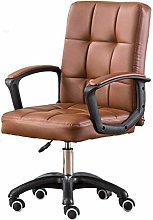 ZHHk Office Chair PU Leather-Padded Mid-Back