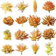 ZHICHUAN 16Pcs Artificial Succulent Plants Flocked