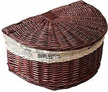 ZHICHUAN Household Kitchen Wicker Willow Basket