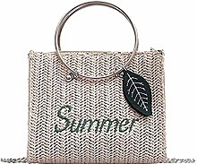 ZHICHUAN Ms Straw Carrybag Carry Basket Fashion