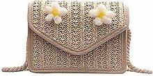 ZHICHUAN Ms Woven-Straw Handbag Handle Basket
