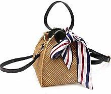 ZHICHUAN Ms Woven Straw Shopping Basket Gift