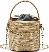 ZHICHUAN Ms Woven-Straw Shoulder Bags Handbag