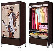 ZHICHUAN Single Wardrobe with Three Drawers