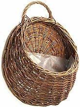ZHICHUAN Wall Suspension Wicker Basket Flower