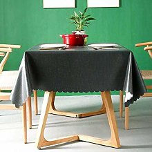 ZHICHUAN Waterproof Tablecloth Solid Colour Table