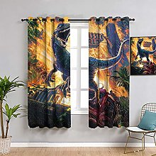 ZhiHdecor Blackout Curtains Jurassic