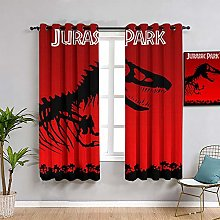 ZhiHdecor Light blocking Curtains Jurassic