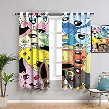 ZhiHdecor Pokemon anime Window Curtains,Living