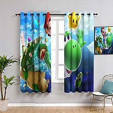 ZhiHdecor Super mario galaxy Blackout Curtains