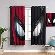 ZhiHdecor Superhero Bedroom Curtain spiderman far