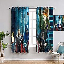 ZhiHdecor The Avengers Blackout Curtains Hawkeye