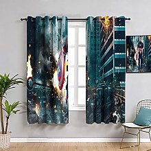 ZhiHdecor The Avengers Grommet curtains Captain