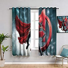 ZhiHdecor The Avengers kitchen curtains Thor